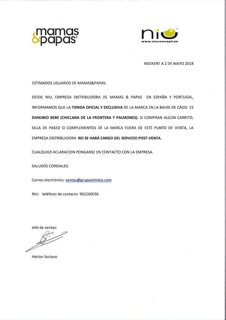 Comunicado MAMAS&PAPAS