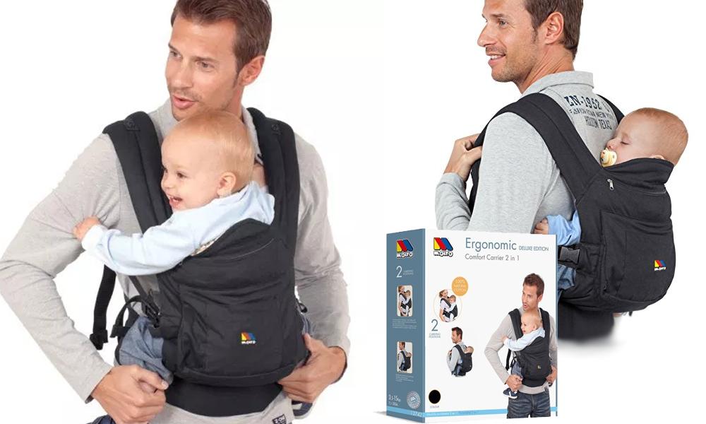 Mochila portabebé ergonomic de Molto - Vacaciones en familia
