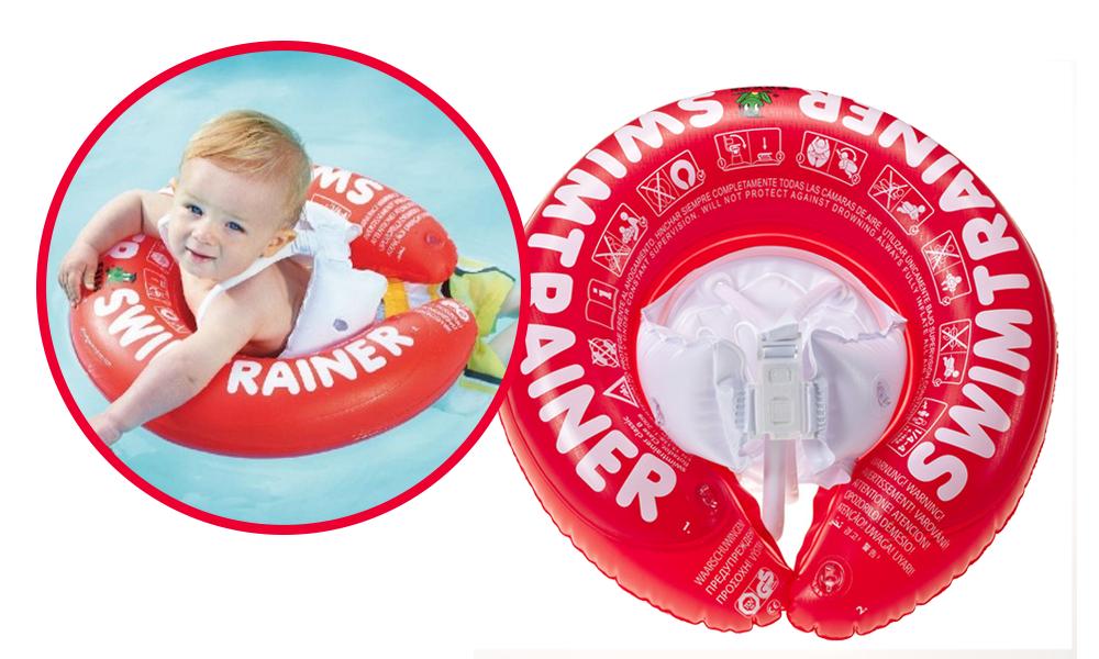 Flotador SwimTrainer rojo - Vacaciones en familia